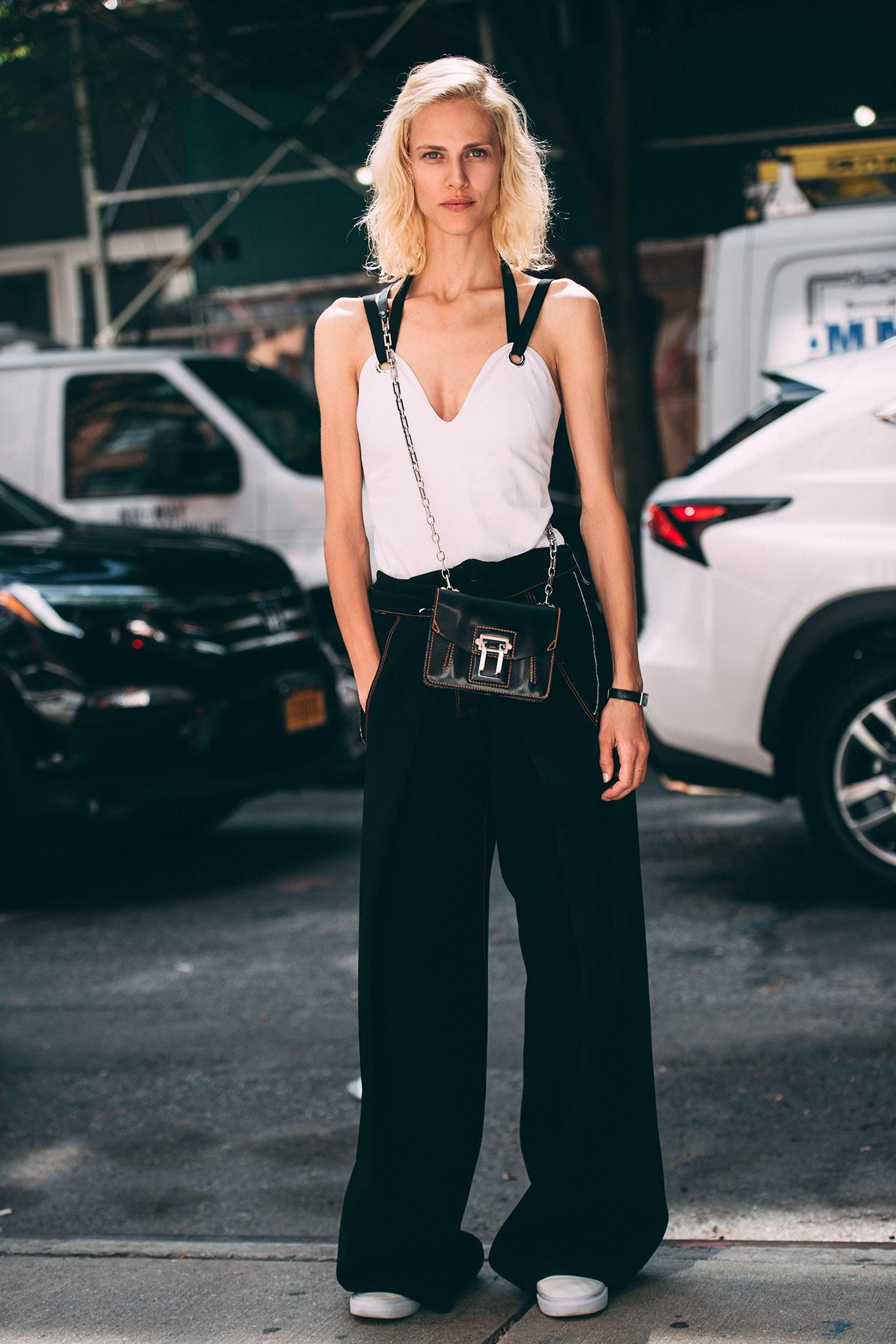 Aymeline Valade at New York Fashion Week Spring/Summer 2017
