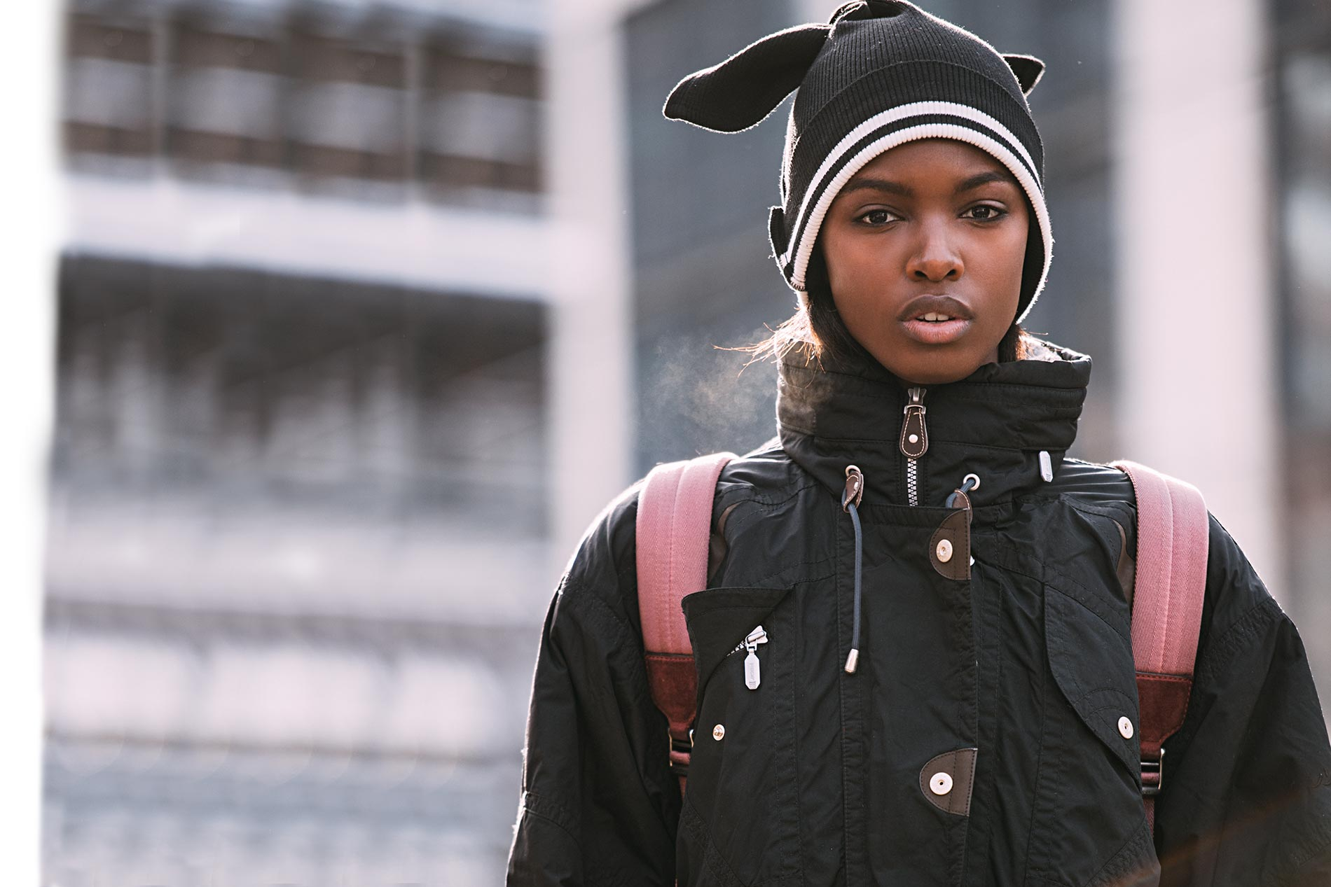 Leomie Anderson at New York Fashion Week Fall/Winter 2017