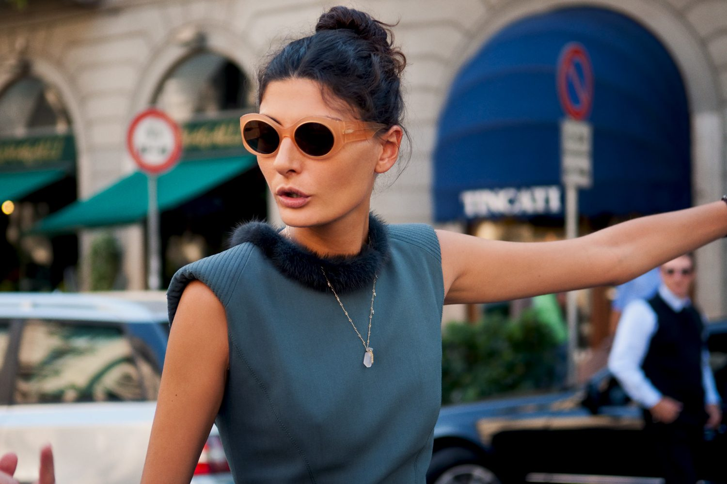 Giovanna Battaglia at Milan Fashion Week Spring/Summer 2011