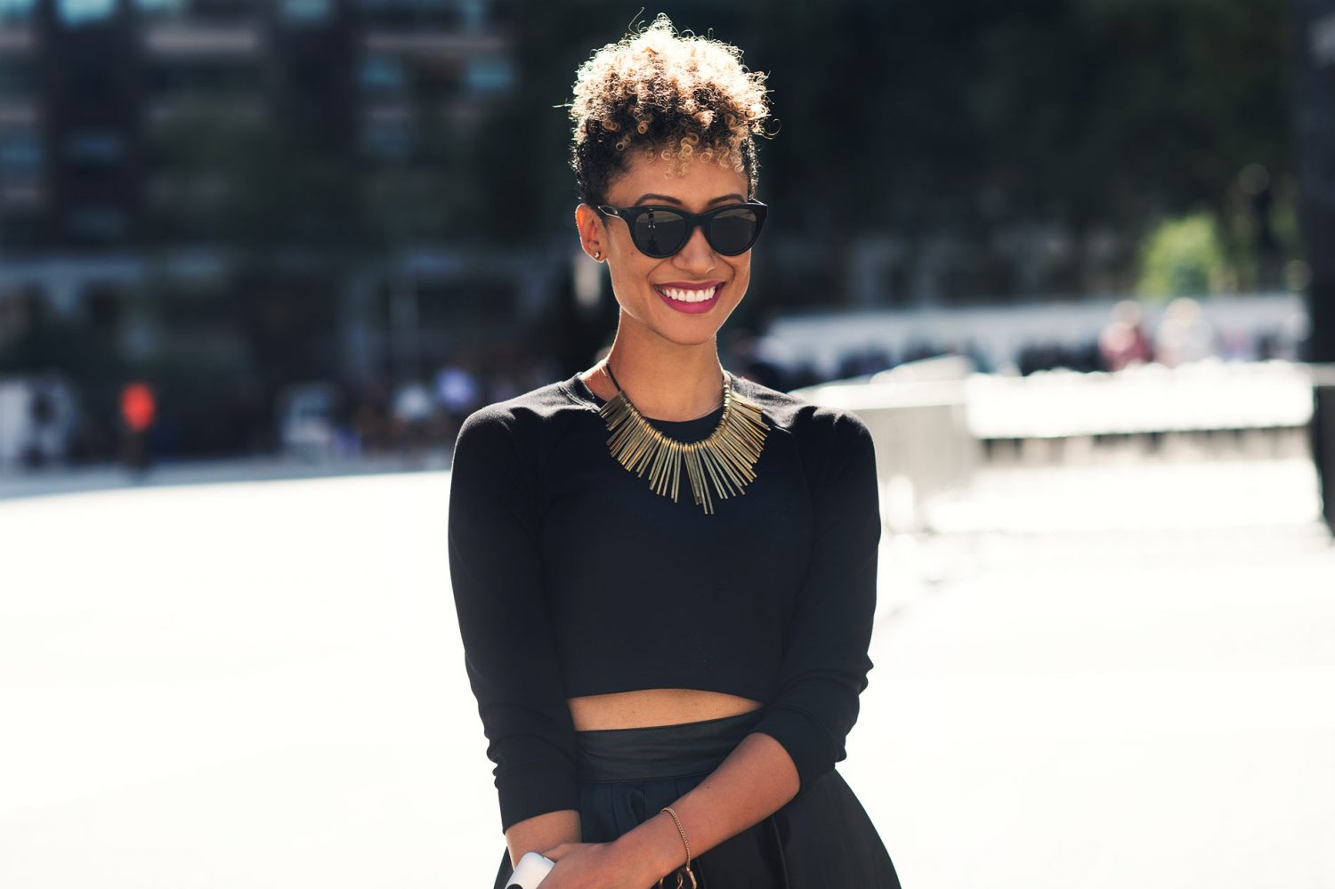 Elaine Welteroth at New York Fashion Week Spring/Summer 2015