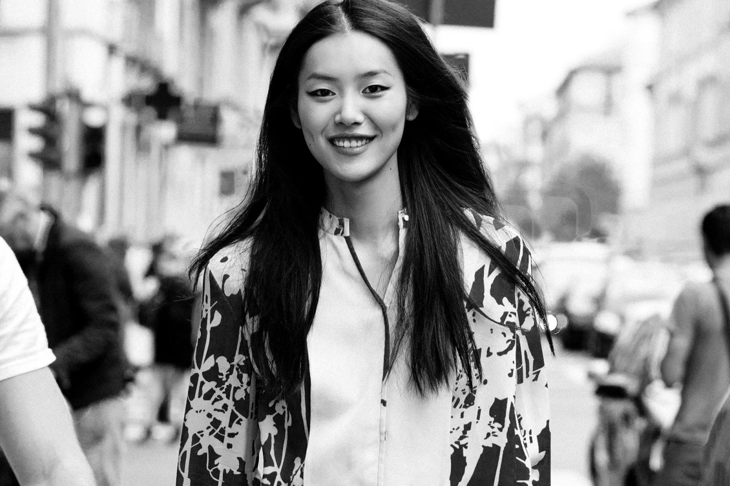 Liu Wen at Paris Fashion Week